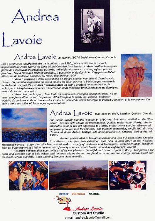 Andrea Lavoie's Biography